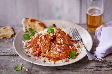 Slow-cooked chicken in tikka masala sauce