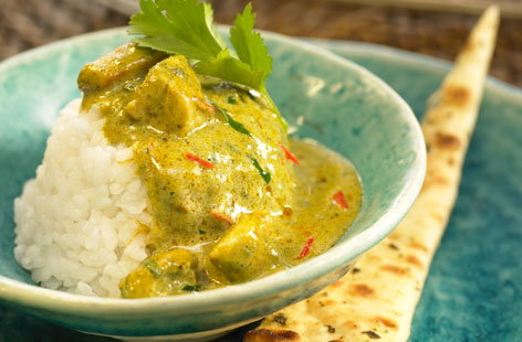 Chicken curry, mustard seeds and rice recipe