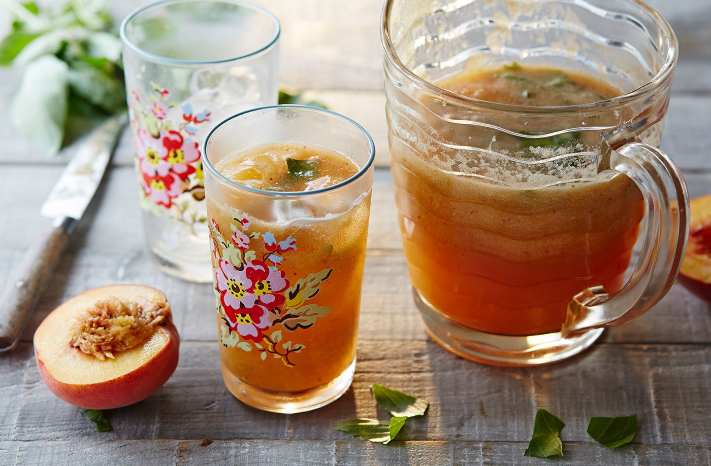 Peach and basil agua fresca  recipe