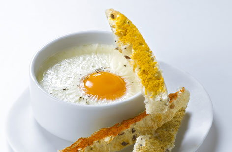 Coddled egg with spicy bread fingers | Tesco Real Food