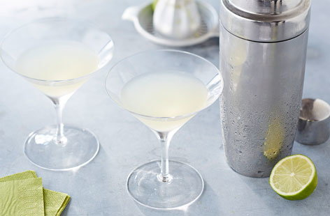 Gin and fresh lime go perfectly together in this whimsical Lime Daisy cocktail