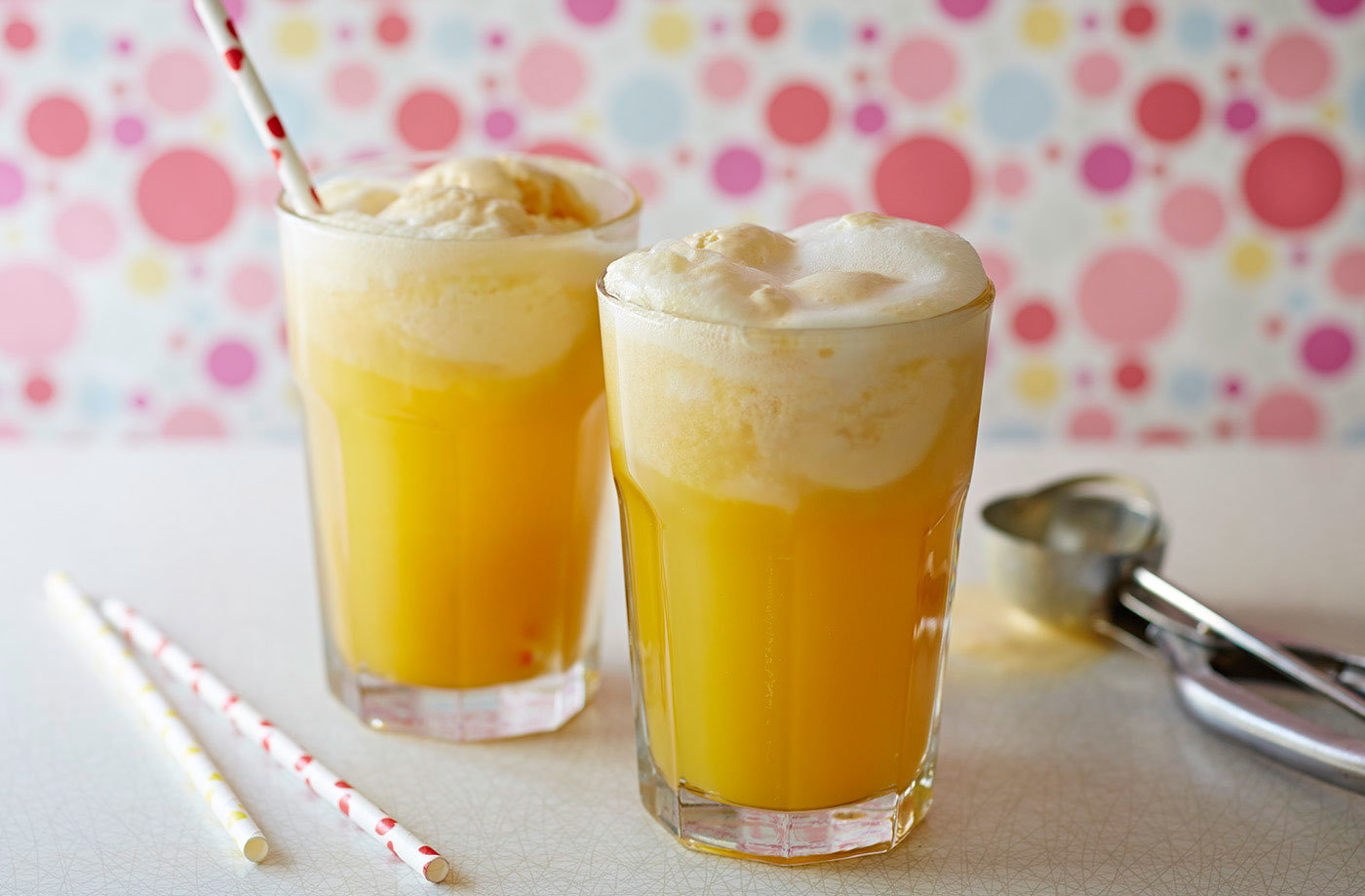 Tropical cream floats recipe