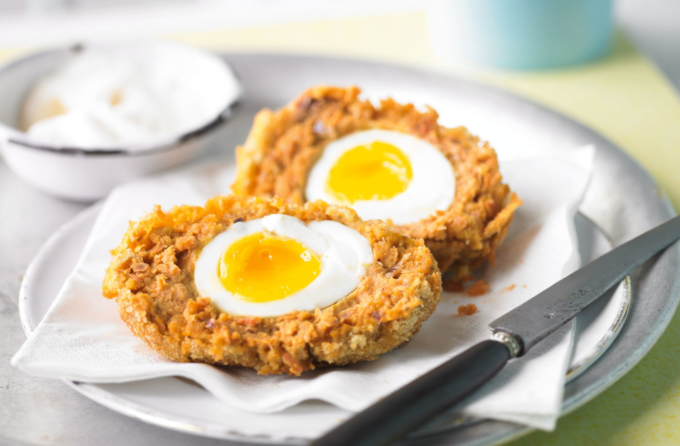 Chickpea scotch eggs tesco real food chickpea scotch eggs recipe forumfinder Images