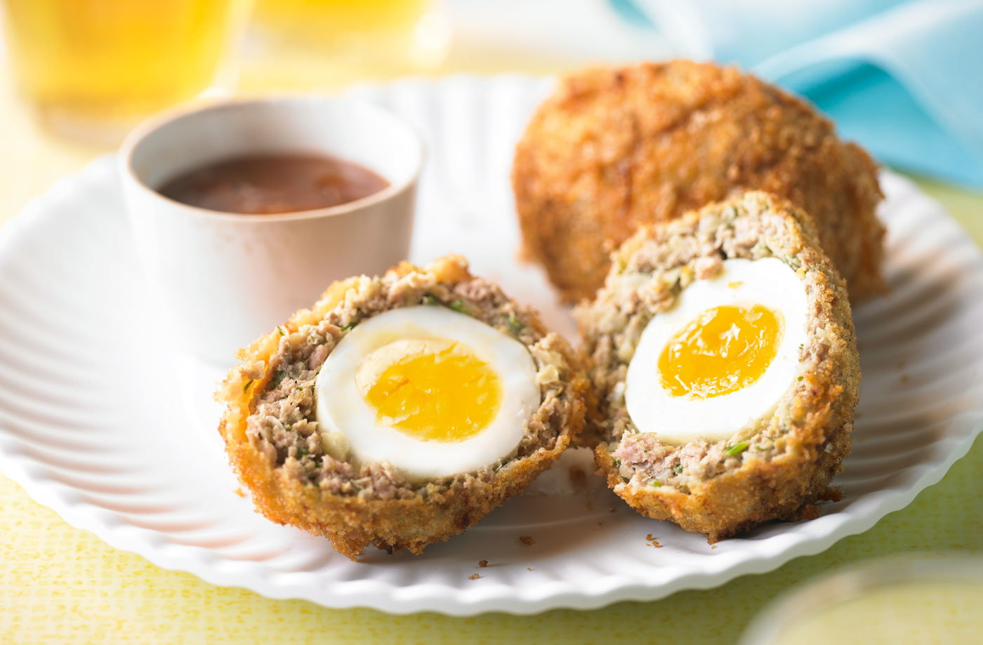 Turkey & cumin Scotch eggs recipe