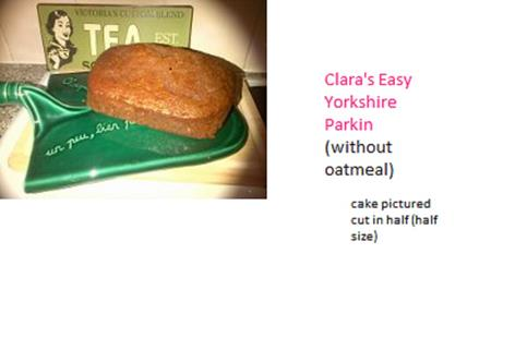 Clara's easy sticky Yorkshire Parkin (without oatmeal)