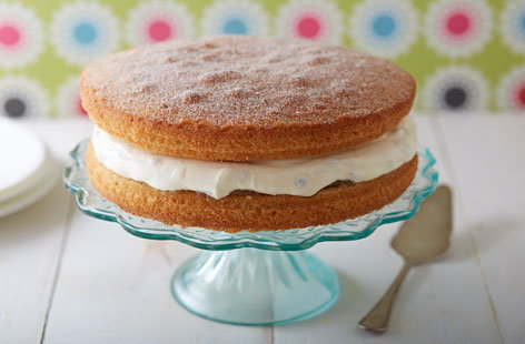 Passion fruit and lime Victoria sponge