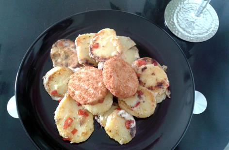 Spicy Pan Fried Finest Elfe Potatoes with Cod Fish Cakes