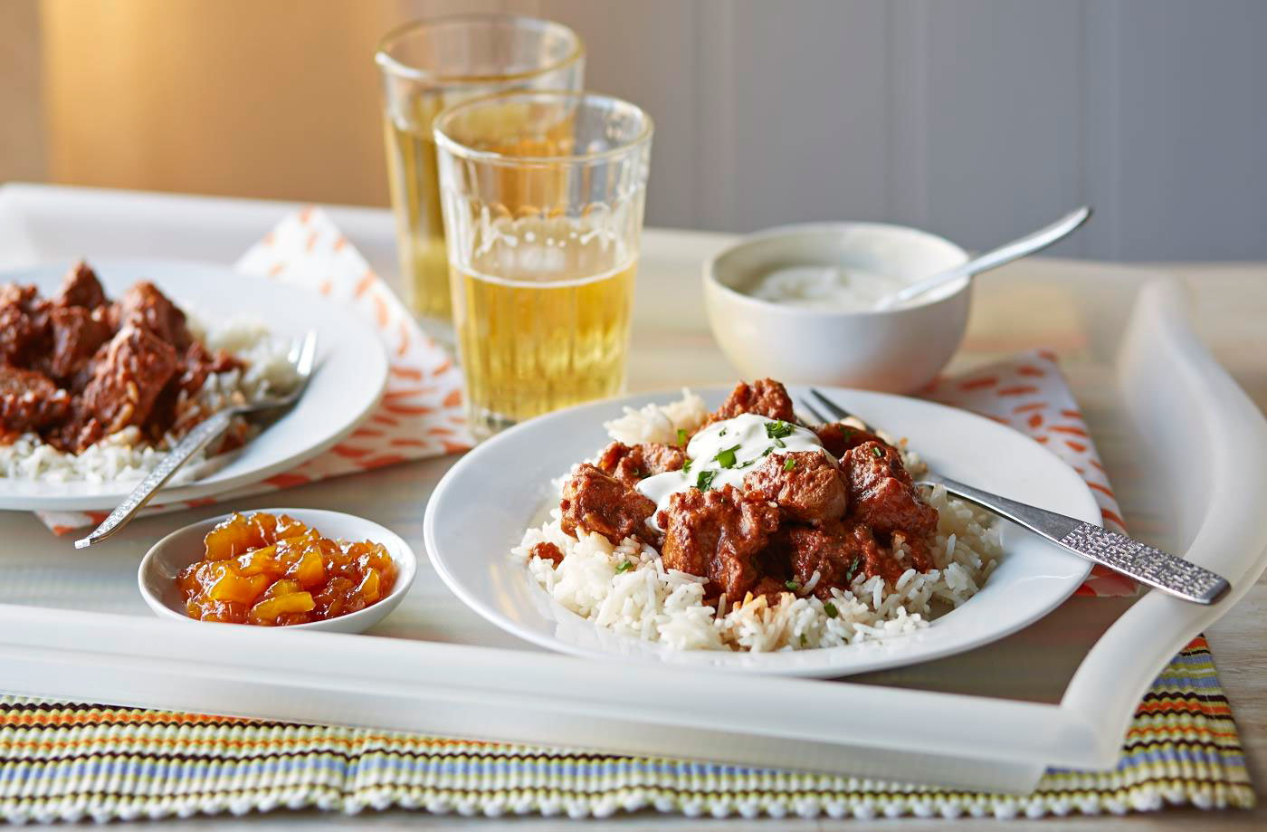 One-pan lamb rogan josh recipe