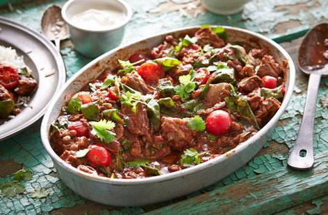 Indian lamb and lentil casserole