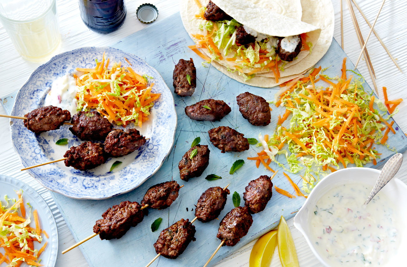 Beef kofte with apple raita recipe
