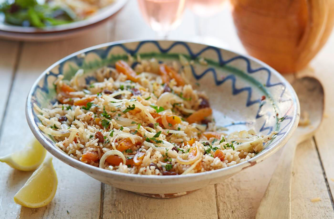 Piri piri rice with sultanas and apricots recipe