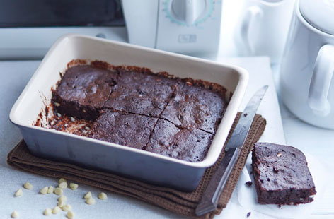 Microwave chocolate brownies