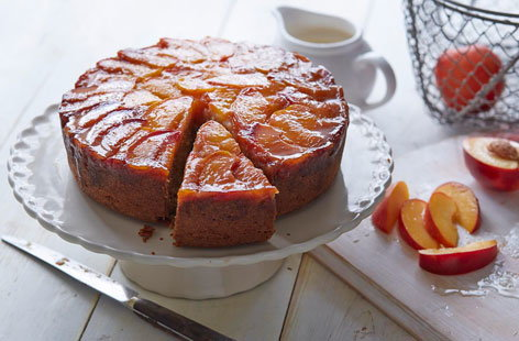 This dazzling and delicious nectarine upside-down showstopper cake is sure to impress and makes the perfect Mother's Day bake