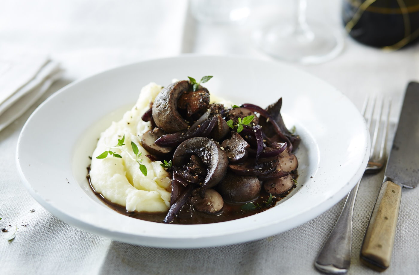 Kidneys in red wine and mushroom sauce recipe