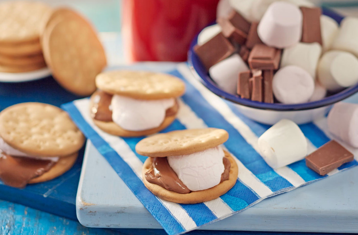 Easy BBQ s'mores