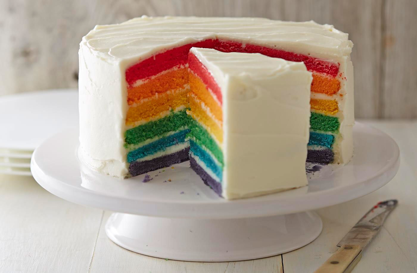 Cake With Photo Tesco : Rainbow cake Tesco Real Food