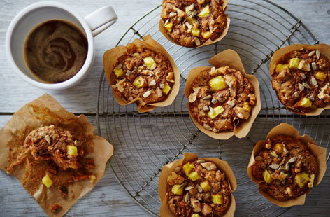 Perfect for a picnic or hearty breakfast, these rich and fruity muffins are totally delicious and completely dairy and egg-free