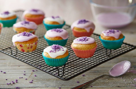 These cute little dairy-free cupcakes are the perfect afternoon treat