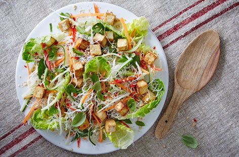 Vietnamese tofu and noodle salad