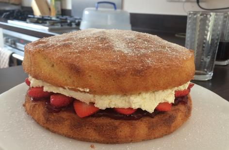 Fresh Cream and Strawberry Victoria Sponge