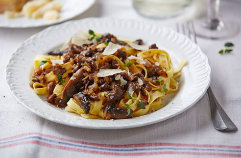 This rich mushroom ragu is just perfect on top of some fresh pasta or greens.