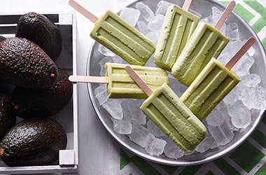 Avocado and Greek yogurt ice lollies