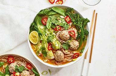 Turkey meatball laksa