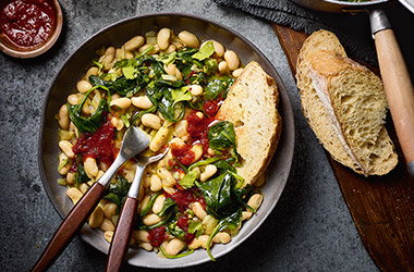 Harissa white bean stew