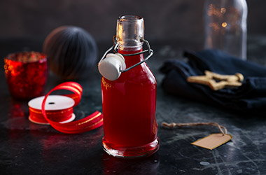 Winter cranberry syrup