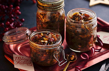 PX sherry, pear and stem ginger mincemeat
