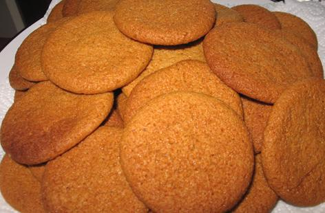 home made ginger biscuits