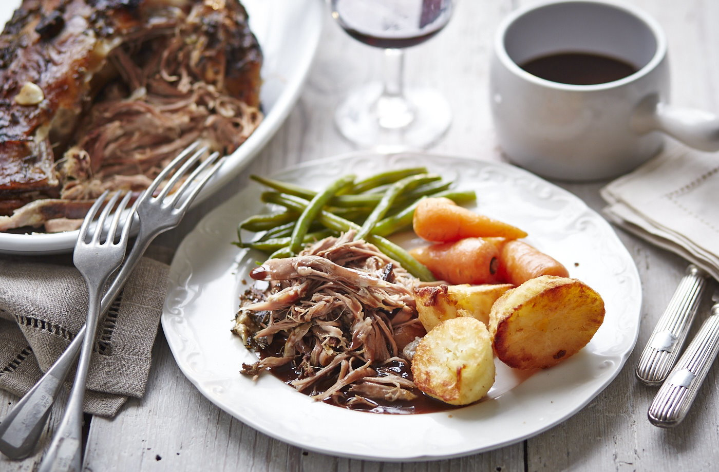 Slow roasted lamb shoulder with rosemary