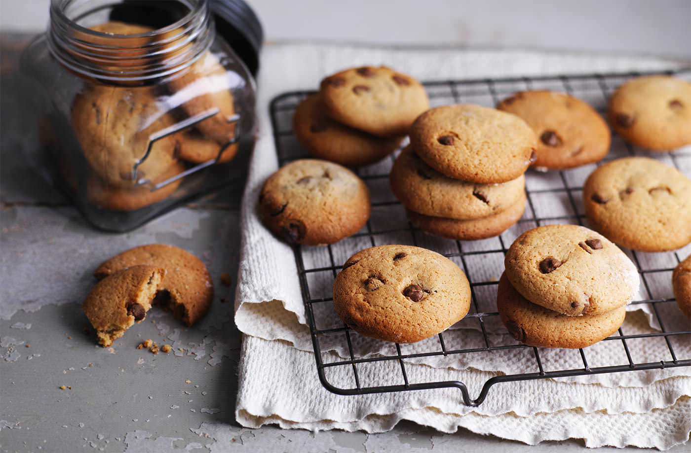 Chocolate chip malted-milk cookies recipe