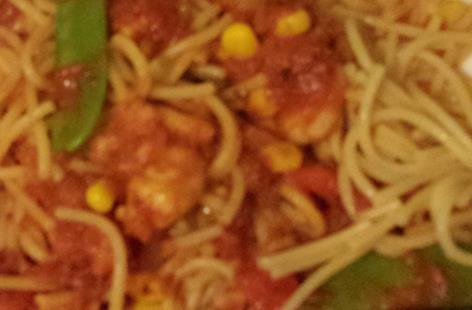 Easy Peasy Prawn Linguine