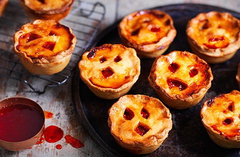 The perfect savoury treat to serve at your Halloween party, these delicious pork pies are filled with succulent sausage meat, herby stuffing and a fiery chilli chutney