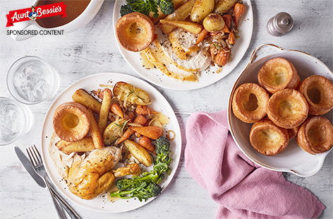 This easy, all-in-one roast chicken uses a couple of shortcuts making it possible to enjoy a roast dinner in the week but with little effort.