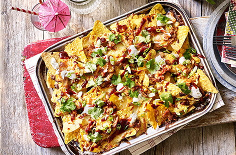These loaded nachos are a great way to add all-American flavour to any occasion.