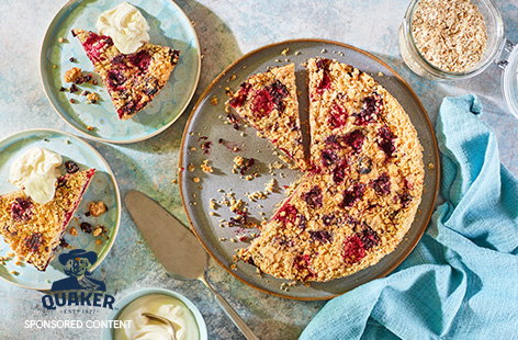 Make the most of summer fruit with this berry crumble tart recipe. A simple mixture of flour, butter, sugar and oats for extra flavour is divided to make a crisp tart crust and crunchy crumble topping, with a juicy mixed berry filling.