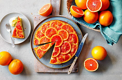 Blood oranges, also known as Jaffa Reds have a unique raspberry-like taste, and they're perfect in this show-stopping bake