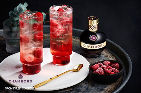 For a sparkling Christmas cocktail, try this raspberry gin fizz recipe. Combine sweet Chambord, pink gin and chilled Prosecco for a fizzy festive tipple for two.