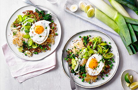 Great for clearing out the pantry and as a midweek meal, this high-protein dish is quick, cheap and easy