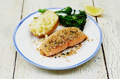 Easy herb-crusted fish