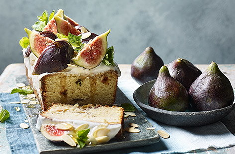 Fig and almond loaf cake