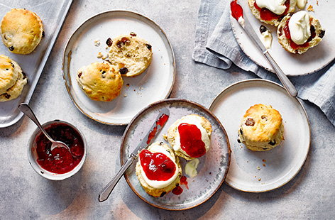 Afternoon tea isn't complete without scones. Bake our classic fruit scones recipe for light, fluffy scones studded with plenty of sultanas and mixed fruit before making the big decision - will you add jam first or cream first?