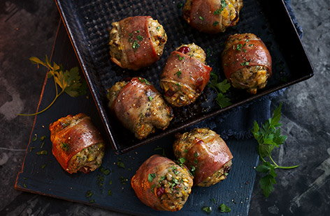 Jewelled stuffing parcels