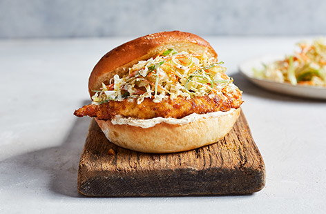 Rustle up this quick and easy chicken burger, inspired by the flavours of a Japanese katsu curry