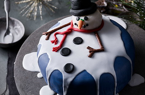 This melted snowman cake is so adorable you almost won't want to eat him