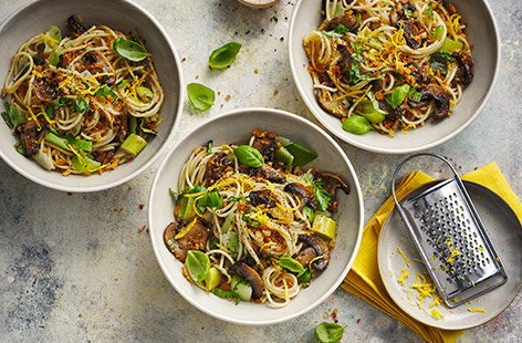 Quick, zesty and fresh, this super-healthy vegan spaghetti makes for a super midweek option