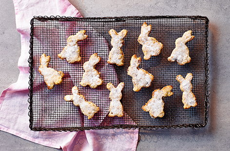 Oatmeal raisin Easter bunny biscuits