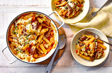 Rethink a family favourite with this one-pot shepherd pie pasta recipe that uses up leftover lamb from your Easter lunch.